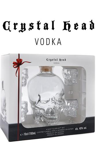 Crystal Head Geschenkset 4 x Gläser