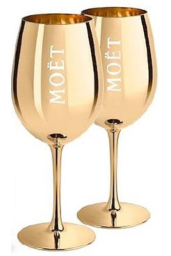 Moët Champagner Gläser Gold