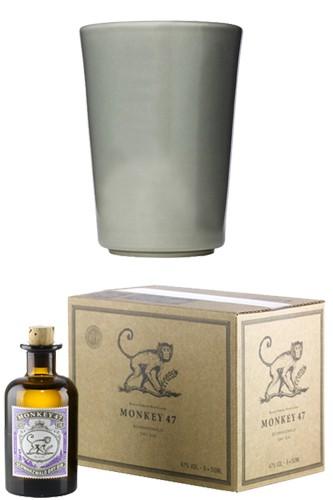 Monkey 47 Gin Miniatur mit Becher