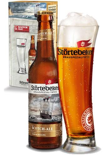 Störtebeker Scotch Ale mit Glas