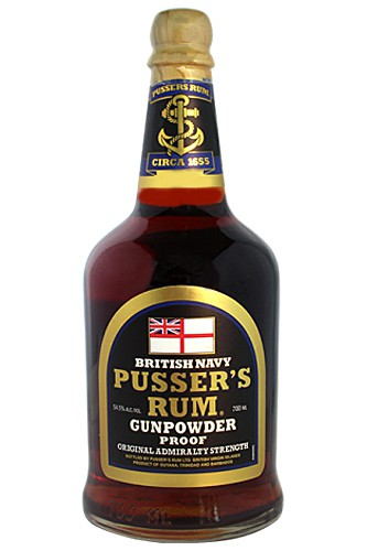 Pussers Black Label Rum Gundpowder