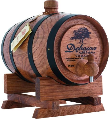 Debowa 2 Liter Vodka im Holzfass