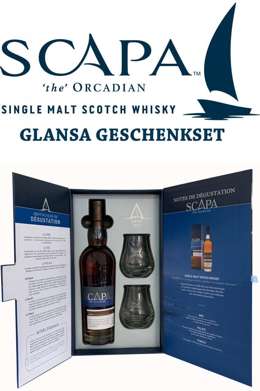 Scapa Glansa Scotch Whisky Geschenkset