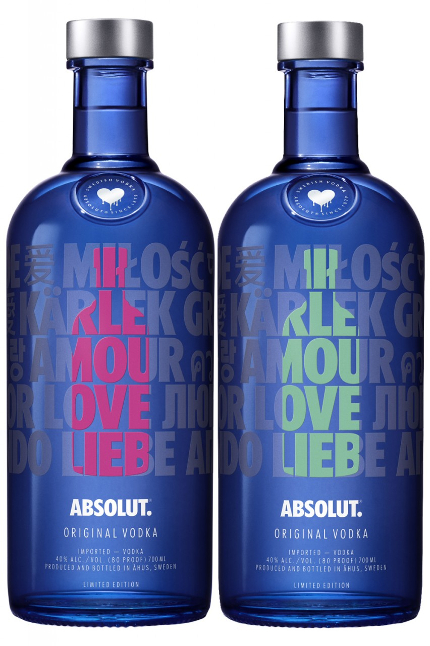 Absolut A Drop of Love Set
