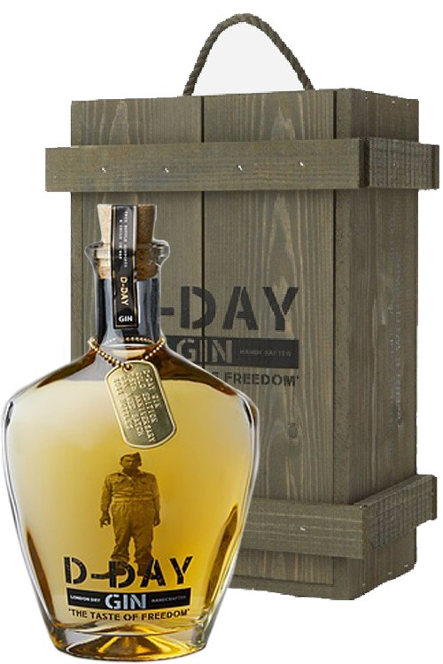 D-Day Gold Edition Gin - Holzkiste