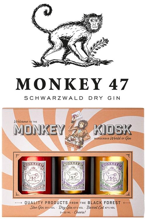 Monkey 47 Gin - Kiosk Set 3 - 50 ml