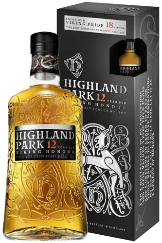 Highland Park 12 mit Miniatur 18 Jahre