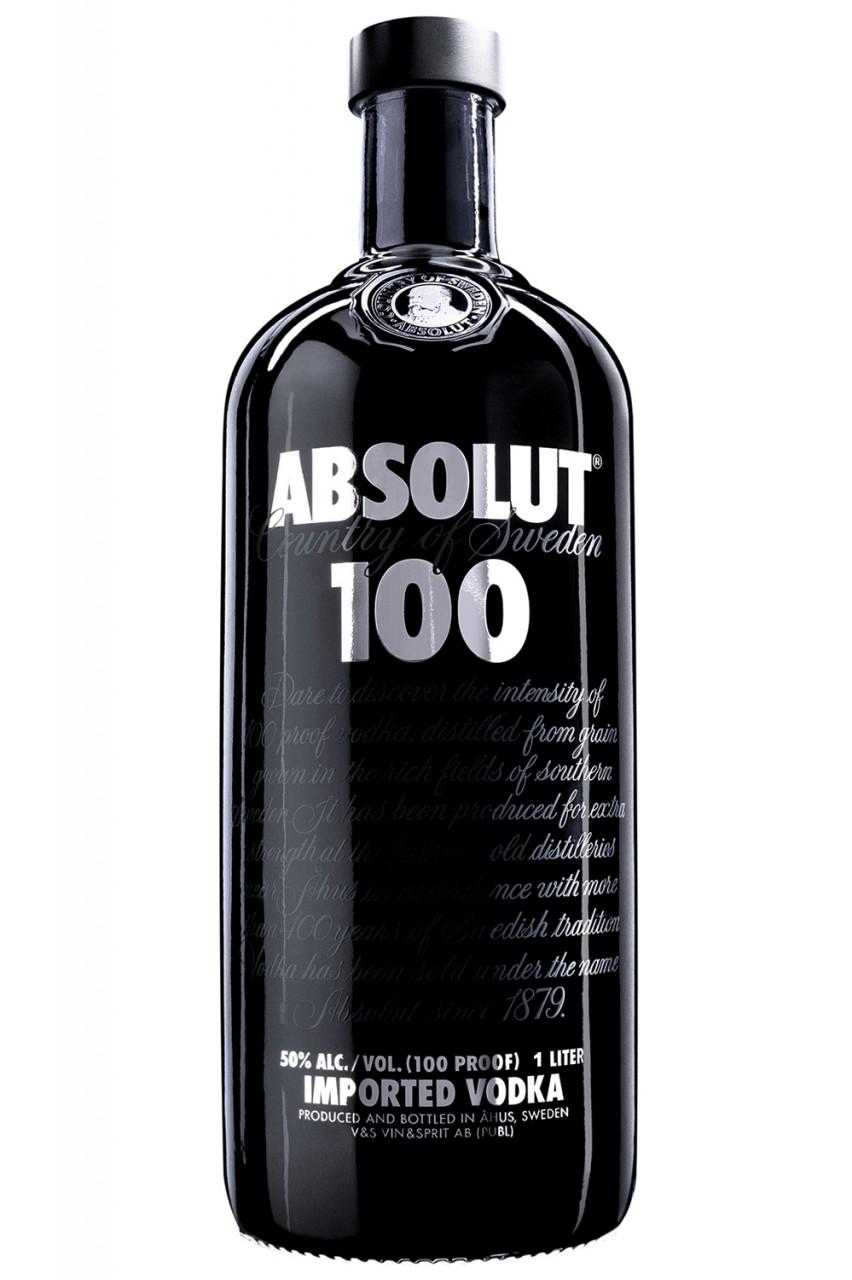 Absolut 100 Vodka - 1 Liter