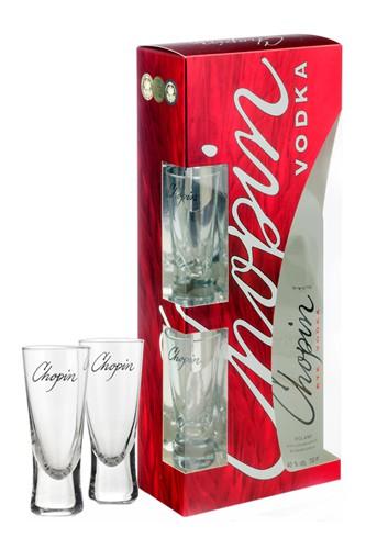 Chopin Rye Vodka mit 2 Gläser 500 ml