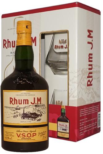 J.M. Rhum VSOP & 2 Gläser
