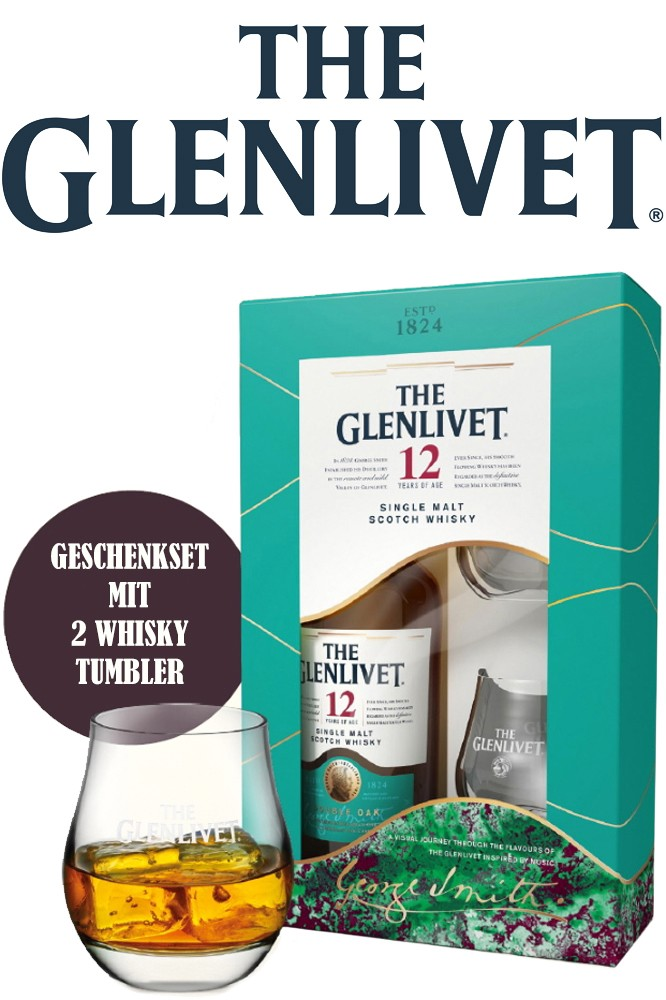 Glenlivet 12 Jahre Geschenkset