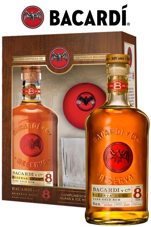 Bacardi 8 Jahre Rum Geschenkset