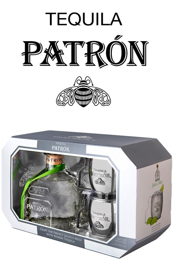Patron Silver Tequila - Mule Mug Set