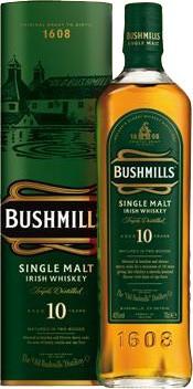 Bushmills 10 Jahre 40% - 0,7 Liter