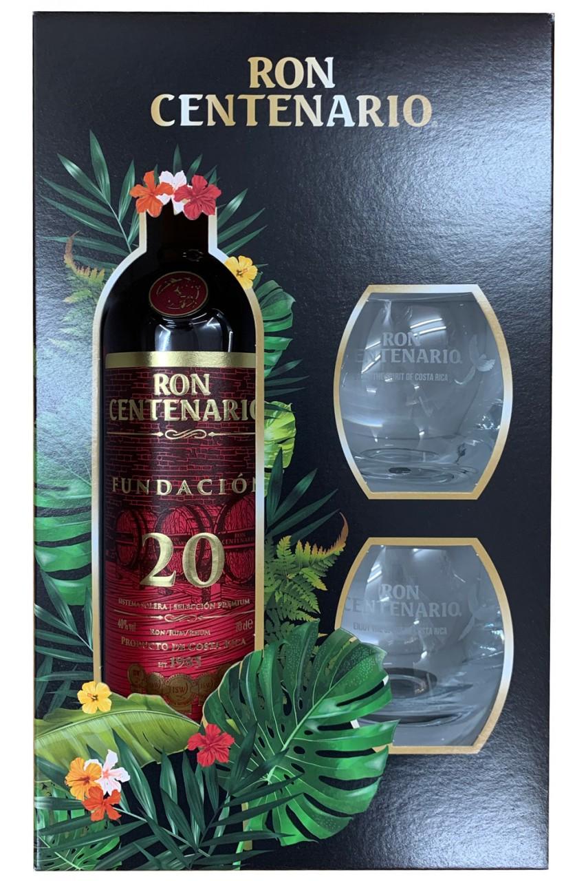 Ron Centenario Fundacion 20 Jahre - Geschenkset