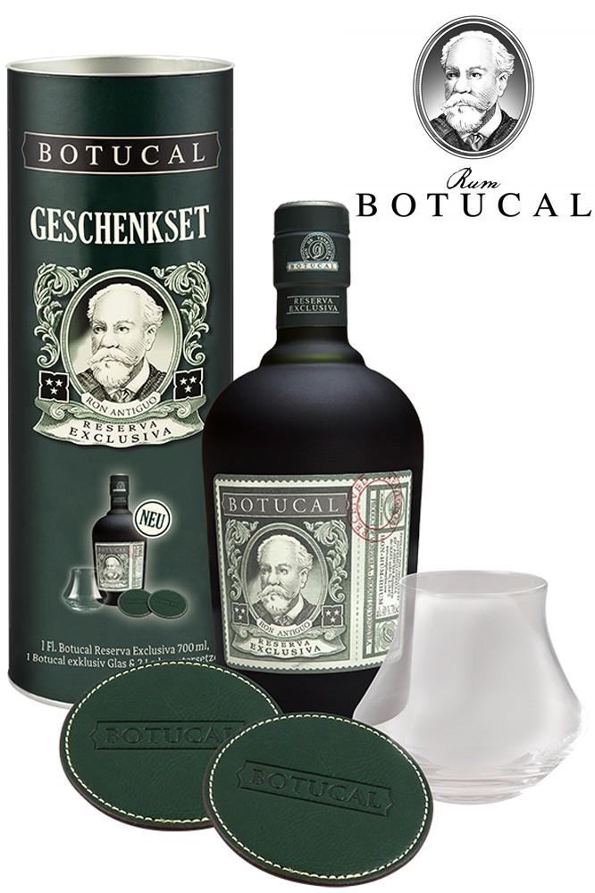 Botucal Reserva Exclusiva Rum mit Glas & Untersetzer