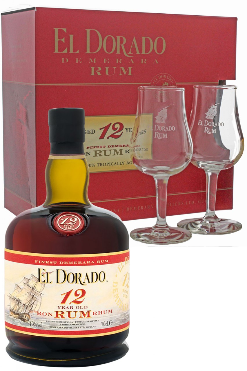 El Dorado 12 Jahre Rum Geschenkset