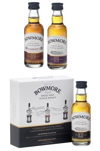 Bowmore Whisky Set - 3 x 50 ml Miniatur