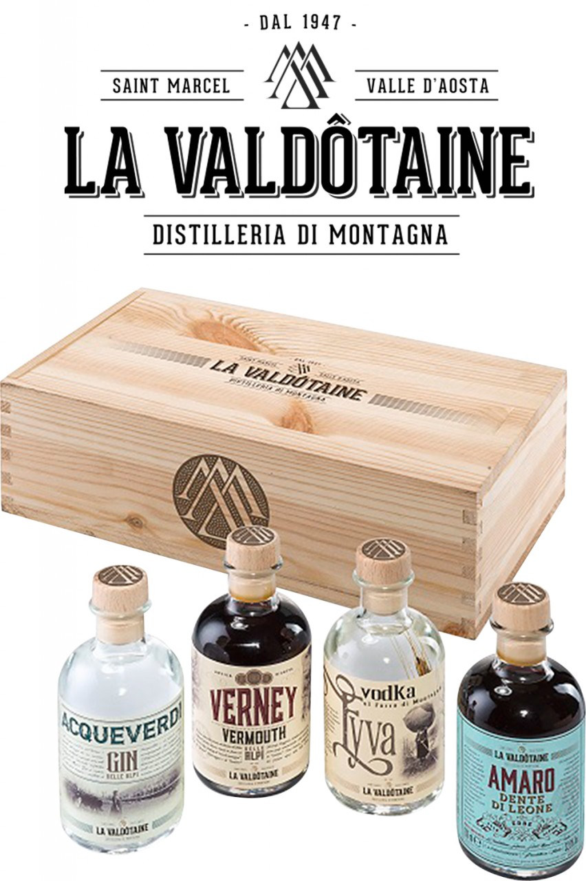 La Valdôtaine Tasting Set in Holzbox