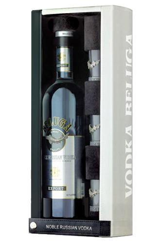 Beluga Noble Lederbox mit Gläser