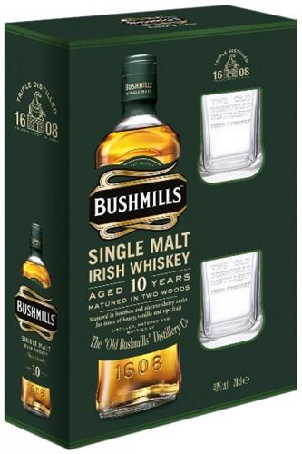 Bushmills 10 Jahre Whisky Geschenkset