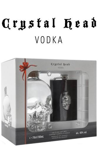 Crystal Head Vodka Geschenkset mit Flachmann
