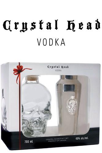 Crystal Head Vodka mit Shaker