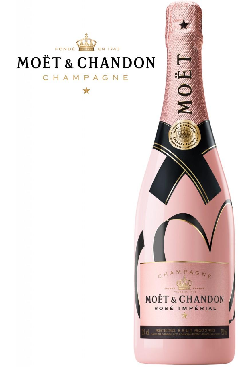 Moët & Chandon Rosé Imperial Champagner - Herz Edition
