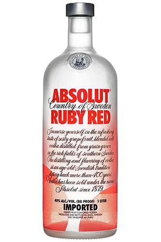Absolut Ruby Red Vodka- 1 Liter