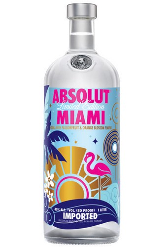 Absolut Miami Vodka - Limited Edition