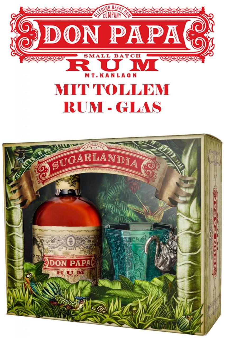Don Papa Rum Geschenkbox mit Glas