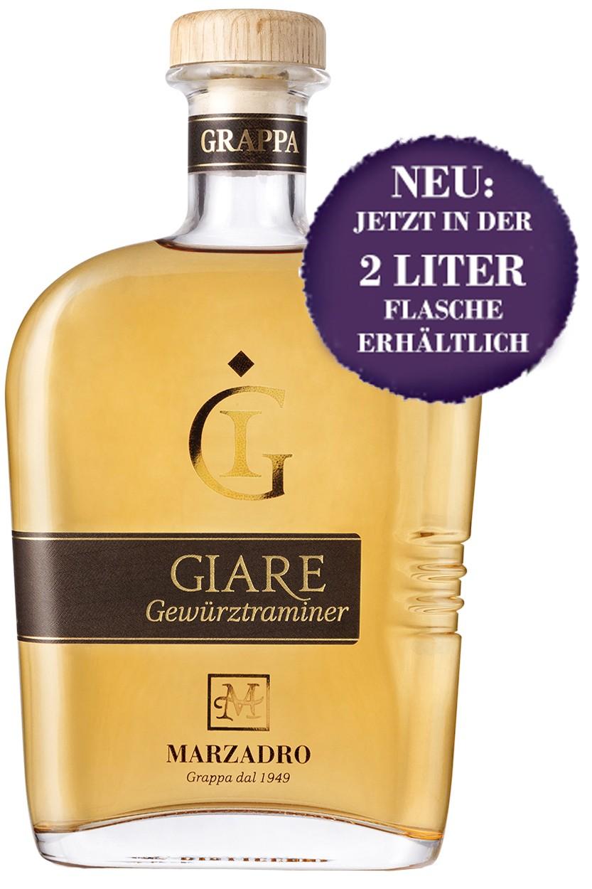 Marzadro Le Giare Gewürztraminer Grappa - 2 Liter