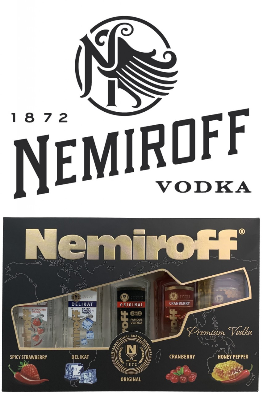 Nemiroff Vodka Miniatur Set 5 x 100 ml