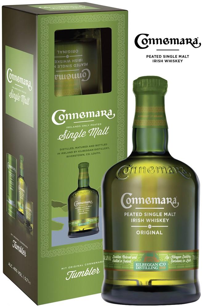 Connemara Peated Original Whiskey mit Tumbler
