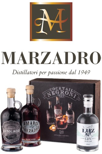 Marzadro Negroni Cocktail Zutaten Set