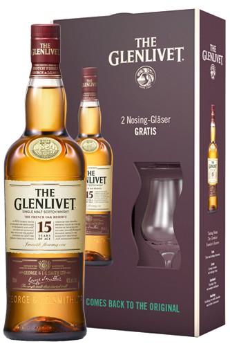 Glenlivet 15 Jahre Geschenkset