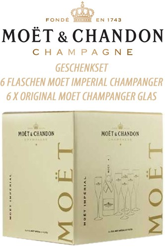 Moët & Chandon Brut Imperial Set mit 6 Gläser