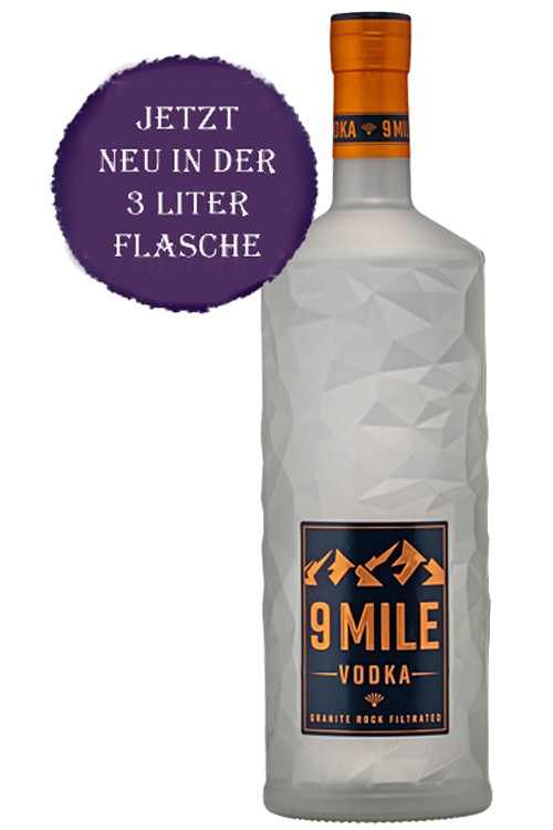 9 Mile Vodka - 3 Liter Flasche