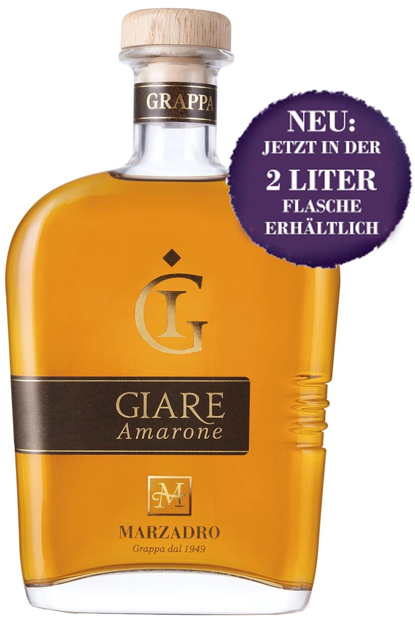 Marzadro Le Giare Amarone Grappa - 2 Liter