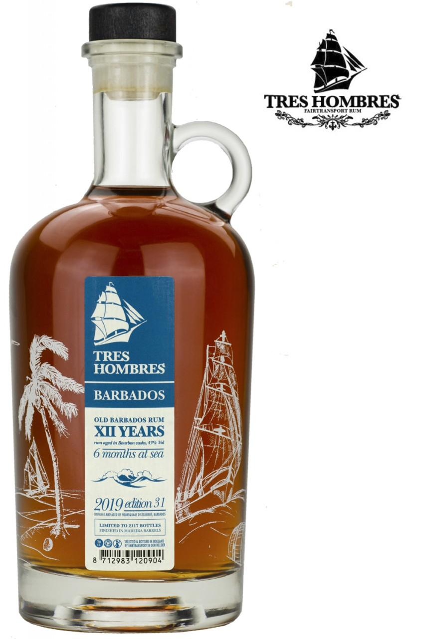 Tres Hombres Old Barbados Ed. 031 - 12 Jahre Rum