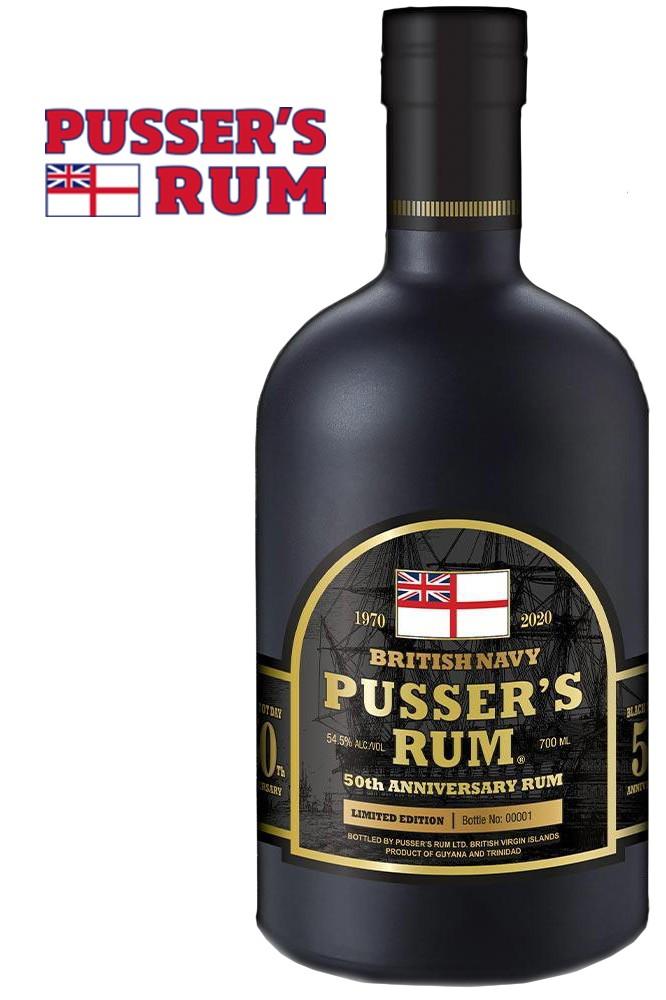 Pussers British Navy 50th Anniversary Rum