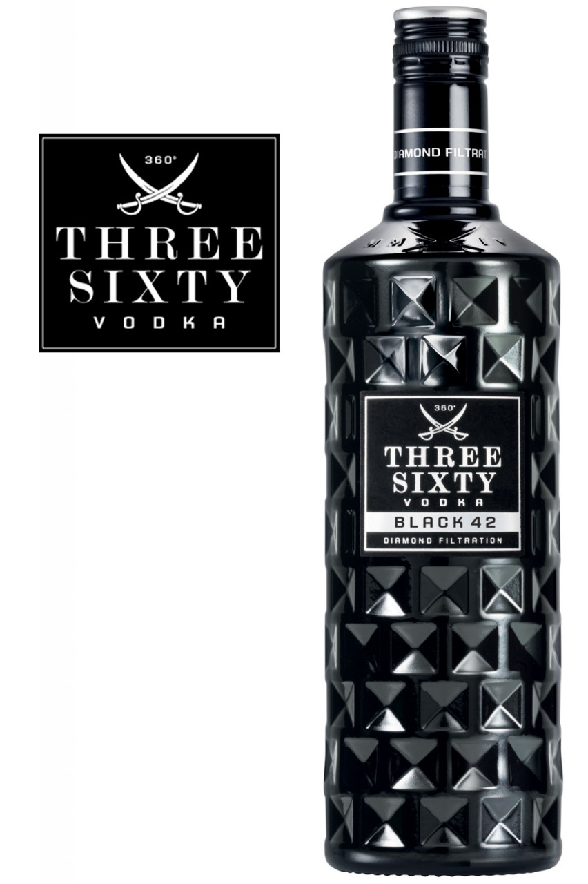 Three Sixty Black 42 Vodka - 1 Liter