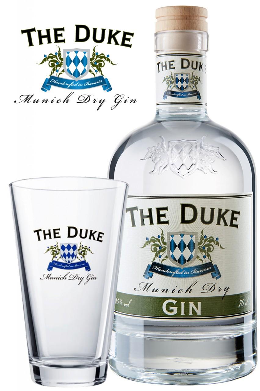 The Duke Gin mit Longdrink Glas