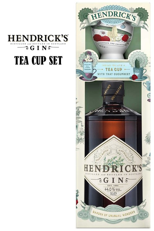 Hendricks Gin Tea Cup Set - 44% Vol.