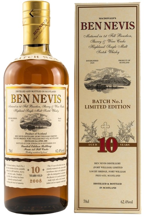 Ben Nevis 10 Jahre - Cask Strength - Batch 1