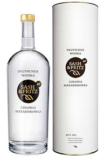 Sash & Fritz Vodka in Geschenktube