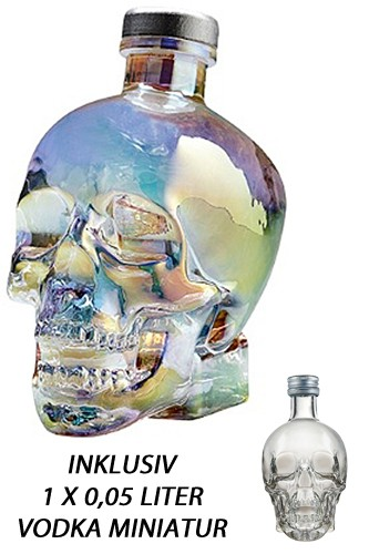 Crystal Head Aurora Vodka & 1 x Miniatur