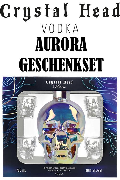 Crystal Head Aurora Vodka Geschenkset